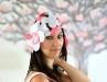 bonnet en fleurs de parapente
