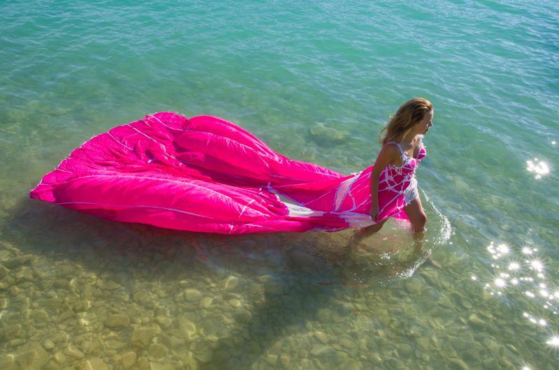 robe Parachute Rose création Valérie PACHE