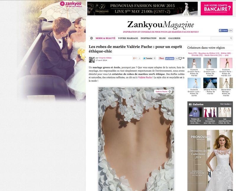 Zankyou article création Valérie PACHE